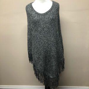 Mossimo Knit Fringe Shawl Poncho Size S/M